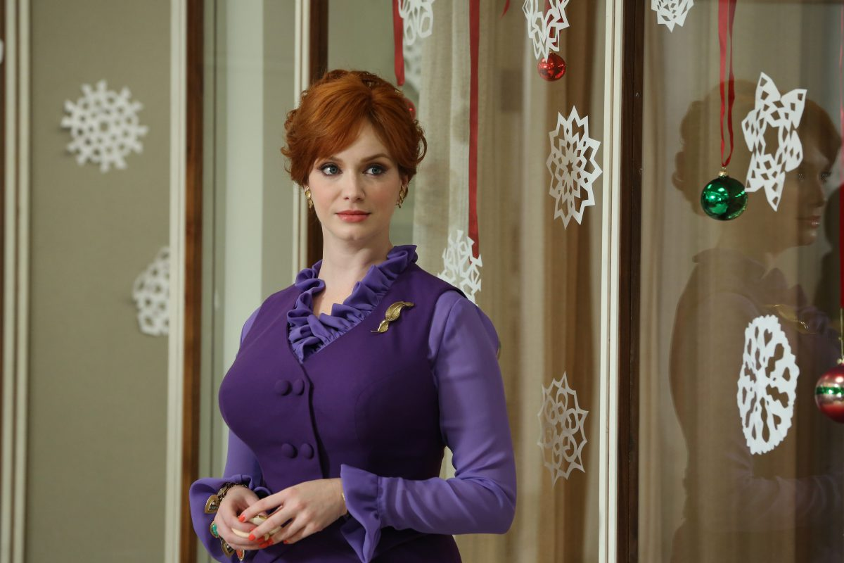 Joan Harris (Christina Hendricks) - Mad Men - Season 6, Episode 1 - Photo Credit: Michael Yarish/AMC
